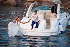 Регистрация брака Крым. Выездная церемония на берегу моря в Крыму. Свадьба
