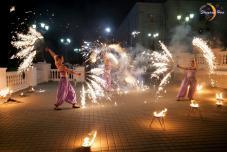 Огненное фаер шоу на свадьбе, ведущий, свадьба в Севастополе, Ялта, Дворец