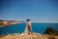 Свадьба для двоих в Крыму. Выездная церемония на берегу моря Крым.